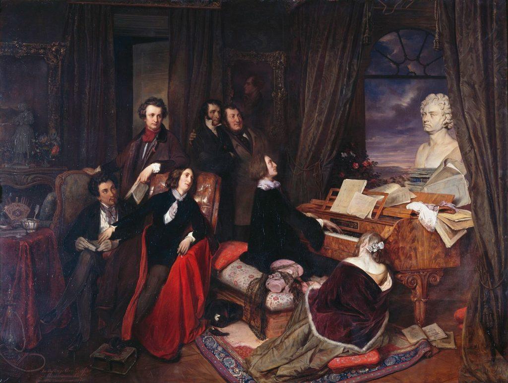 Josef Danhauser et Liszt en 1838